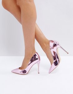 Read more about Aldo stessy rose gold point court shoes - rose gold