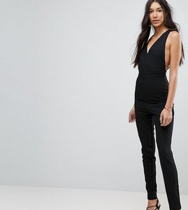 Read more about Vesper tall open back tailored jumpsuit - black