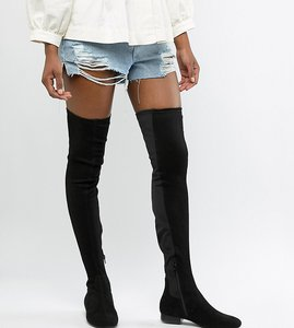 2b4018ca0ee Read more about Asos design tall kelby flat elastic over the knee boots -  black