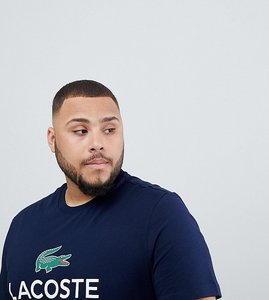 Lacoste Live Polo Shirt With Large Croc In Navy Slim Fit Shop