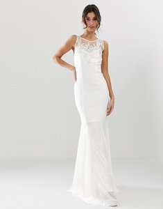 Read more about City goddess bridal fishtail maxi dress with embellished detail