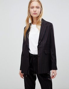 Read more about B young stripe suit blazer - combi 1