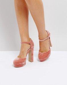 Read more about Coco wren velvet platform shoe - nude velvet ornate