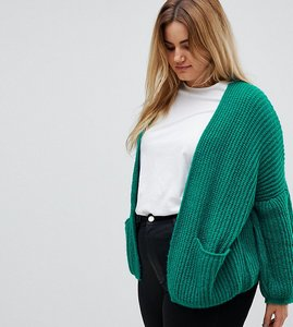 Read more about Asos curve oversized chunky cardigan - emerald