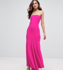 Read more about John zack tall bandeau fishtail maxi dress - hot pink