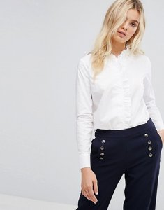 Read more about Y a s frill detail shirt - white