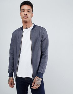 Read more about Aquascutum humber sweat bomber club check jacket in navy - navy