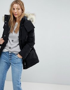 Read more about Bershka parka coat - black