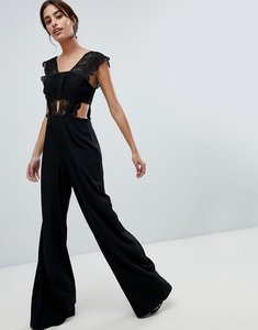Read more about Asos design lace top jumpsuit with wide leg