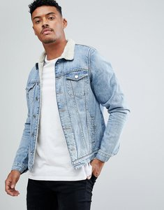 Read more about Just junkies borg lined denim jacket - 809 supply blue