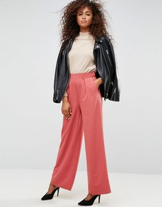 Read more about Asos the wide leg trouser with pleat detail - terracotta