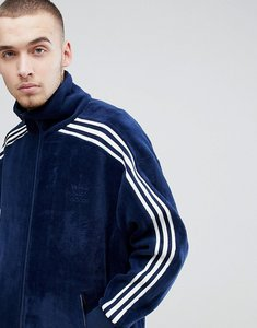 Read more about Adidas originals adicolor velour track jacket in oversized fit in navy cw4915 - navy