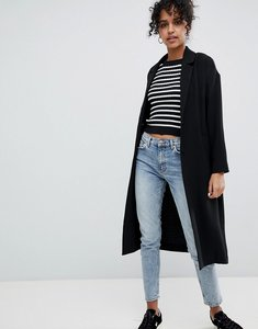 Read more about Monki oversized lightweight coat - black