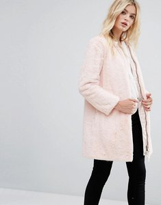 Read more about Max co faux pink fur darsena coat - powder pink