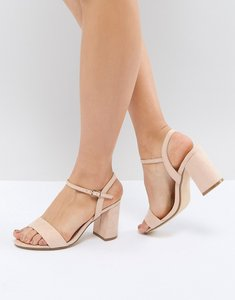 Read more about Office modesty block heeled sandals - nude