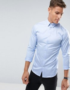 Read more about Selected homme shirt with concealed button down collar in slim fit - light blue