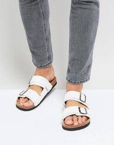 Read more about Brave soul double strap sandals in white - white