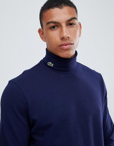 Read more about Lacoste turtle neck long sleeve t-shirt in navy - navy