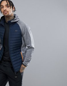Read more about Jack jones tech multi quilt jacket - grey melange