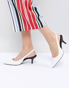Read more about Steve madden marks white kitten heeled shoes - white lycra