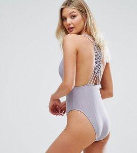 Read more about Peek beau macrame swimsuit b-f cup - purple