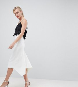 Read more about Asos design tall tailored occasion fishtail midi skirt - white