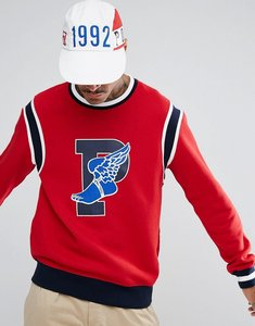 Read more about Polo ralph lauren stadium crew sweat limited edition winged p in red - ralph red