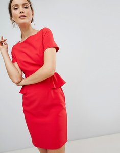 Read more about Zibi london pencil dress with frill detail - red