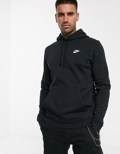 Read more about Nike pullover hoodie with swoosh logo in black