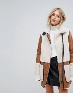 Read more about Esprit teddy coat patch - tan
