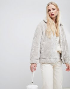 23da5ceda33 monki borg teddy jacket white - Shop monki borg teddy jacket white ...