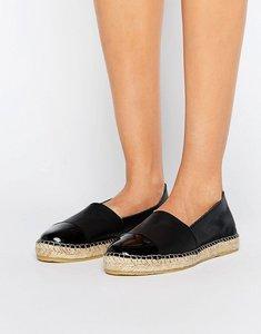 Read more about Pieces josephine leather espadrilles - black