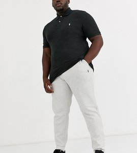 Read more about Polo ralph lauren big tall cuffed joggers player logo in grey marl