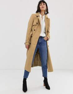 Read more about Asos design longline classic trench coat - stone