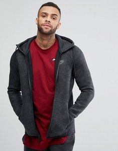Read more about Nike tech fleece jacquard zip hoodie in grey 863814-038 - grey
