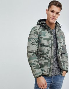 Read more about Jack jones originals padded jacket in camo - forest night