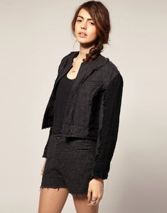 Read more about Blaak for asos patch wool cop jacket - grey