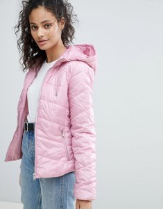Read more about Bershka hooded puffer jacket - pink