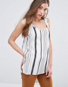 Read more about Glamorous printed vest - white brown aztec st