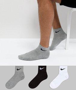 Read more about Nike 3 pack quarter socks in multi sx4706-901 - multi