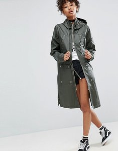Read more about Asos waxed rain jacket - khaki