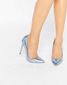 Read more about Asos phrase pointed high heels - blue