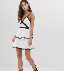 Read more about Asos design mini dress floral embroidered broderie