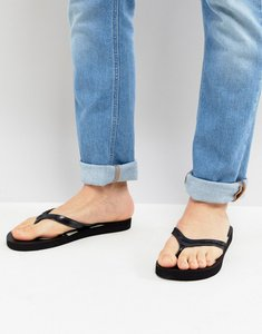 Read more about Calvin klein dash logo flip flops in black - black