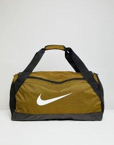 Read more about Nike khaki swoosh logo duffle bag - khaki