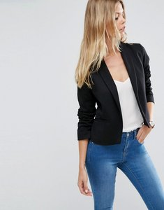 Read more about Asos ponte jacket with shawl collar detail - black