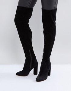 Read more about Aldo tenesha velvet over the knee boots - black velvet