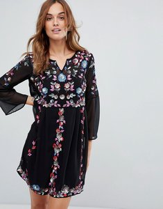 Read more about French connection sequin embellished dress - black multi