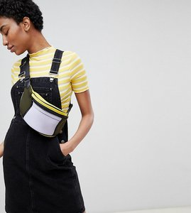 Read more about Asos design tall denim dungaree dress in washed black - washed black