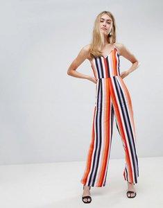 Read more about Miss selfridge jumpsuit in rainbow stripe - multi